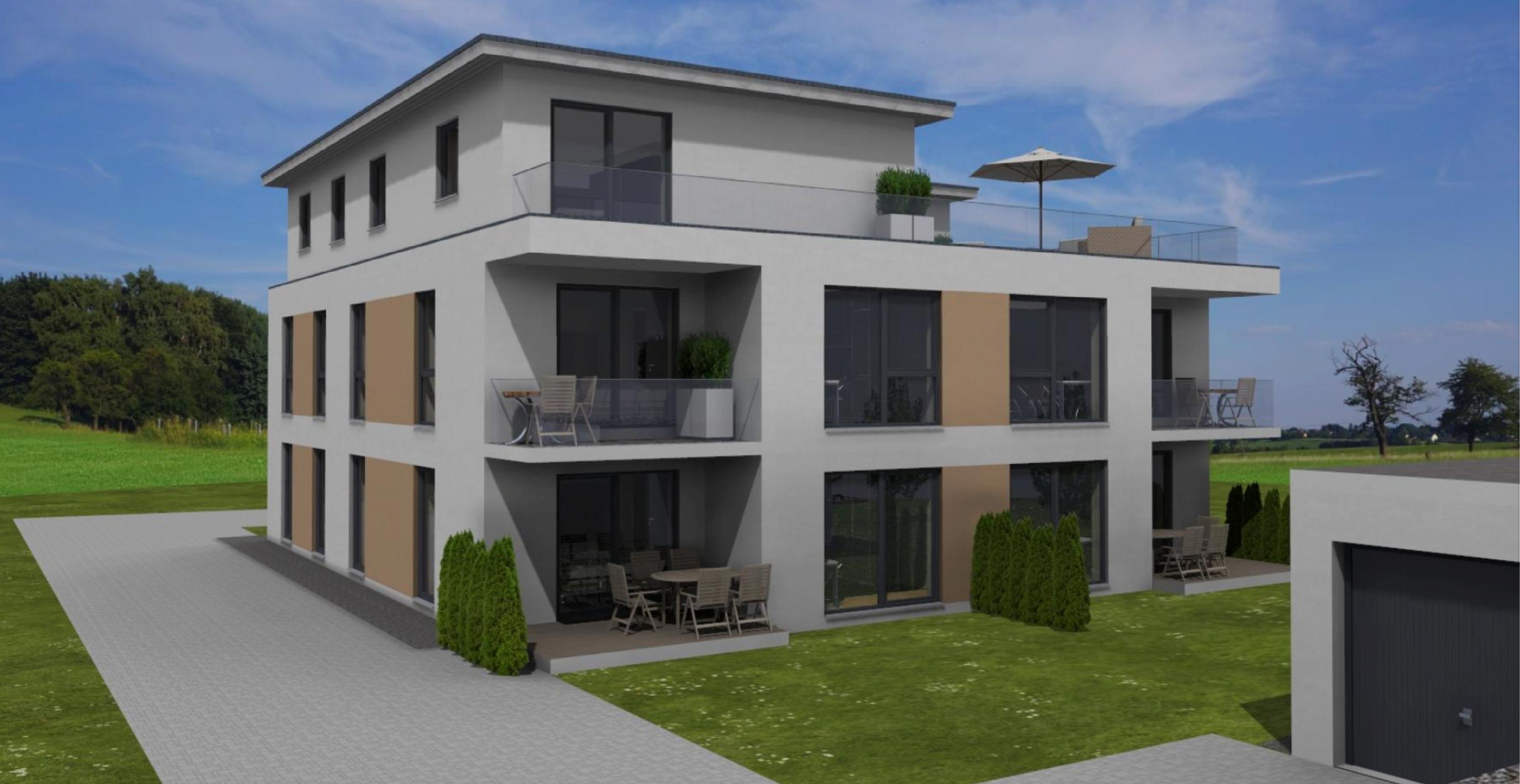 Erstbezug-Wunderschöne 3-Zimmer-Wohnung mit sonniger Terrasse in bevorzugter Wohnlage